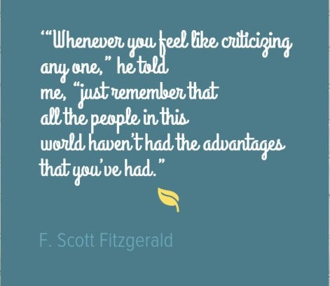 a great quote from the great gatsby and a chat about friendship